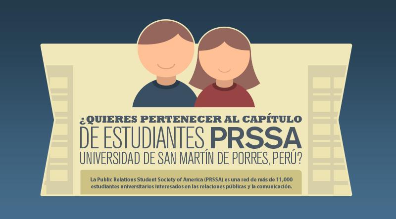 Únete Al Capítulo De Estudiantes PRSSA, Universidad De San Martín De Porres – Perú