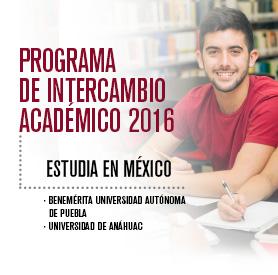 Estudia En México Con El Programa De Intercambio Académico 2016