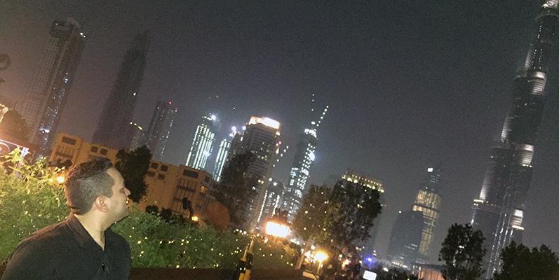 Gino Zamudio en Dubai, la meca de la hotelería.